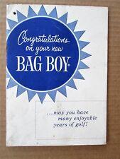 Vintage Bag Boy Golf Cart User Manual Warranty Booklet by Jarman Company