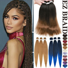 Afro Pre-stretched EZ Braiding Hair Extensions Ombre Brown Jumbo Braid as Human