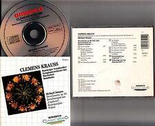 CLEMENS KRAUSS- Strauss - Divertimento/Rosenkavalier Waltz CD W.GERMANY PDO 1987