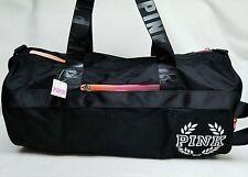 Victoria's Secret Pink Campus BLACK Ombre Retro Duffle Gym Bag Tote School Sport