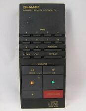 Sharp RRMCK0057AFZZ Genuine CD Player Remote Control For DX620, DX620BK - Tested