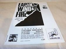 EARTH WIND & FIRE - Publicité de magazine / Advert !!! TOUCH THE WORLD TOUR 1988