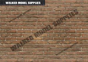 1:6 scale (3xA4) Brick wall - Peel and Apply sticker/ diorama model 12