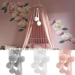 Chiffon Ball Baby Kids Net Decor Nursery Bed Canopy Bedding Hanging Accessories