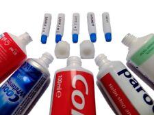 Travel Bottles Set - 30x Empty Mini Tubes 0,12 ounce + 2x Filling Adapters - NEW