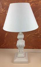 Landhaus Holz Nachttischlampen 66- 4 Schreibtischleuchte Antik 50 cm Lampe