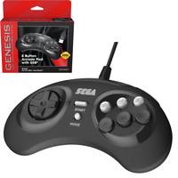 Retro-Bit Sega Genesis 8 Button USB Wired Game Controller Black for PC / Mac