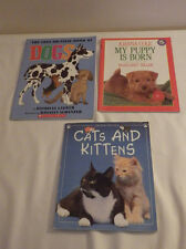Lot of 3 Books Cats and Kittens My Puppy is Born True or False Book of Dogs