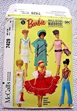 7429 SEWING PATTERN~UNCUT 1964~BARBIE DOLL CLOTHES:SQUARE DANCE BANDANNA DRESS++