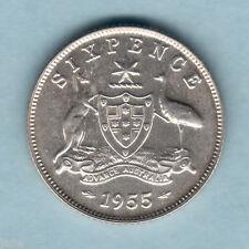 Australia.. 1955 Proof  Sixpence..  Mintage - 1200..