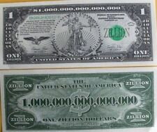 Zillion Dollars $ USA Money Bill FUNNY Novelty Gag Prank Joke Party Not Real