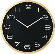 Amalfi Leni Wood Wall Clock 41cm Black & White Natural Rustic Modern New