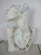 hochwertige Perlenkette echte <16mm große Perlen faszinierende Naturfarben  46cm