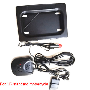 US Motorcycle License Plate Frame Holder Remote Shutter Electric Blinds Cover Up