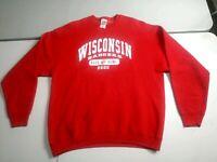 Vntg NCAA Football Wisconsin Badgers 2000 Rose Bowl Red Sweater Sweatshirt XXL