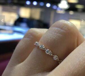 0.50Ct Pear Cut Diamond Half Eternity Wedding Band Ring 14K Rose Gold Finish