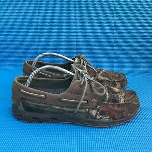 Columbia PFG Omni Shield Mens Size 10 Camo Vent Canvas Lace Up Fishing Shoe