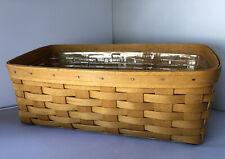 Longaberger Vanity Basket Combo, (2000) Basket & Protector Liner #44717