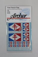 Archer 1/35 Free French Forces (FFF) Flags WWII (8 flags, 3 sizes) AR35346