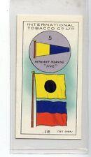 (Jd8937) INTERNATIONAL TOBACCO,INT CODE OF SIGNALS,5-I E,1934,#42