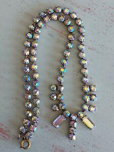 Vintage Necklace ab rhinestones costume jewellery