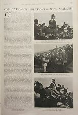 1902 PRINT ~ CORONATION CELEBRATIONS IN NEWZEALAND GOVERNMENT BUILDINGS GOVERNOR