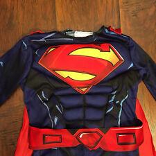 Justice League DC SUPERMAN Superhero Halloween Costume Muscle Chest sz 3T