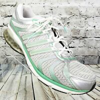 Adidas Boost 2 Women's Running Shoes Sneaker Size 12 Athletic White Green Silver
