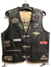 Leather Vest Sheep Leather With Patch