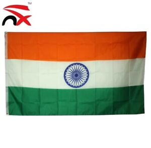 Large India Flag Indian National Cricket Fans Supporters World Cup 5 x 3 Ft New