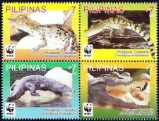 Philippines 2011 MNH 4v Blk, WWF, Crocodiles, Reptiles, Wildlife