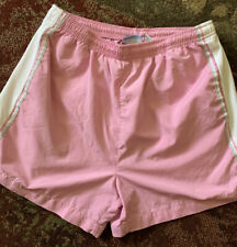 Womens Pink/Gray Running Track Yoga Gym Shorts Size Med Pockets