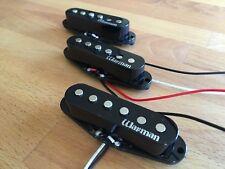 Warman Texas Triple Hots single coil guitar pickups, staggered poled set - black