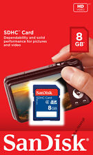SanDisk 8GB SDHC Class 4 C4 SD 8G Camera memory card SDSDB-008G **Retail