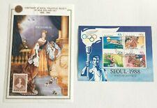 NZ394) New Zealand 1988 Philately / Seoul Olympics Minisheet CTO/Used