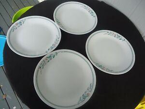 4 corning ware  corelle rosemarie dinner plates