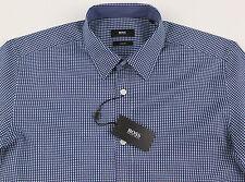 Men's HUGO BOSS Blue White Circles Shirt M Medium NWT NEW Slim Fit ROBBIE Cool!