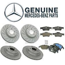 For Mercedes W212 E350 E400 Front & Rear Disc Brake Rotors & Pads Kit Genuine