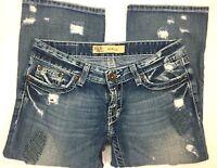 BKE Stella women's cropped distressed jeans size 26 dark wash