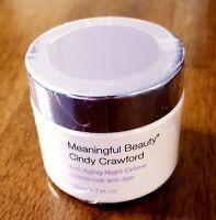 Meaningful Beauty Cindy Crawford ANTI-AGING NIGHT CREAM CREME FULL SIZE  1.7 oz