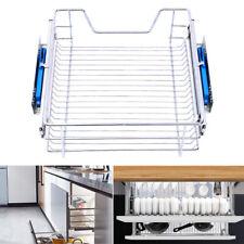 Soft Close Pull Out Wire Basket Kitchen Larder Storage Drawer Cupboard 30-60cm