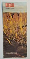 Utah Highway Map 1968 Travel Brochure Tourism Sightseeing Pamphlet