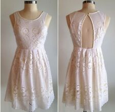 Free People Rocco Floral Lace Dress in White Size 10 Large NWT $148