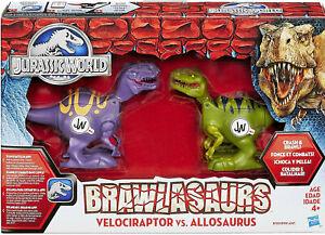 Jurassic World Brawlasaurs Velociraptor vs Allosaurus Figure Pack Crash & Brawl