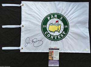 RORY MCILROY SIGNED 2014 MASTERS PAR 3 FLAG 2018 PGA AUGUSTA PROOF JSA K13