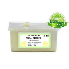 3 LB REFINED ORGANIC SHEA BUTTER  ULTRA WHITE GREAT MOISTURIZER