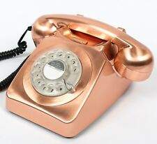 GPO 746 traditional rotary dialing telephone Bronze