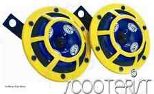 Hella Yellow Panther Sharptone Dual Horn Set 12V DC Car Bike Universal New