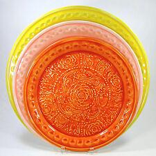 "Two's Company EL VEDADO Medallion Plate Set 3Pc 18.5"" 16.5"" 14.5"" Platter Metal"