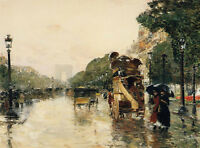"""perfect 36x24 oil painting handpainted on canvas """"A rainy day""""@N5341"""